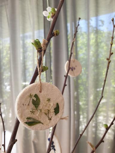 2019 04 30 1 - Blütenanhänger aus Salzteig DIY