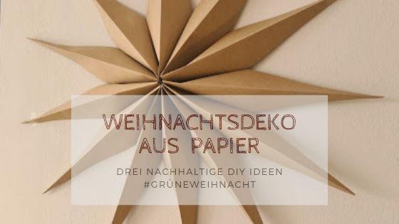 Autumn Season Blog Banner 2 - Weihnachtsdeko aus Papier